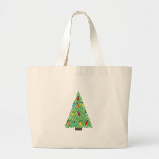 Christmas Tree Decorations Tote Jumbo Tote Bag