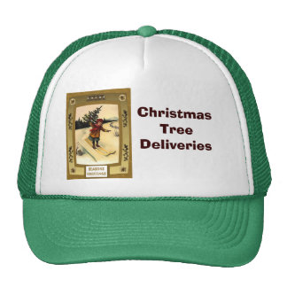 Christmas tree deliveries mesh hat