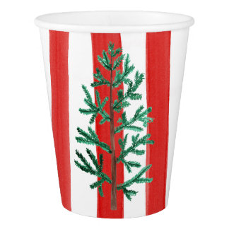Christmas Tree Disposable Cups