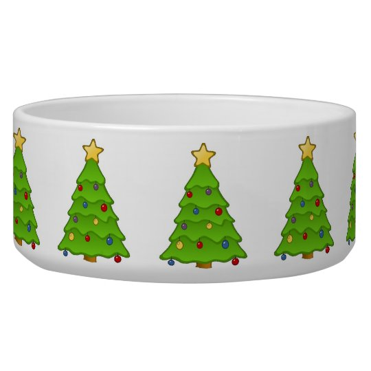 Christmas tree dog bowl