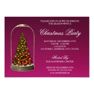 CHRISTMAS TREE DOME | CHRISTMAS PARTY INVITATION