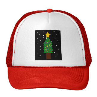 Christmas Tree Drawing Cap