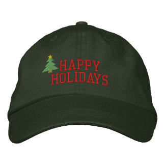 Christmas Tree Embroidered Hat