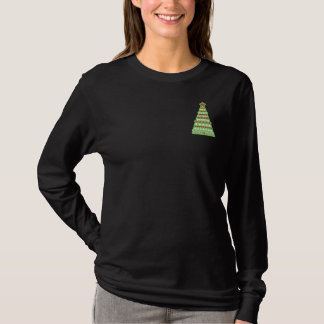 Christmas Tree Embroidered Long Sleeve T-Shirt