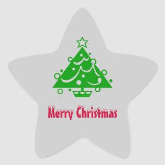 Christmas Tree Envelope Seal Star Sticker