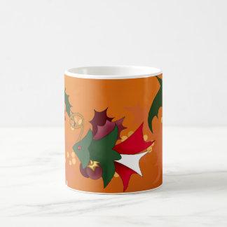 Christmas Tree Fish Mug with Holly