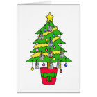 Christmas tree for runners, decorated with shoes. card
