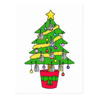 Christmas tree for runners, decorated with shoes. postcard