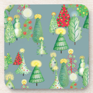 Christmas Tree Forest Coaster set