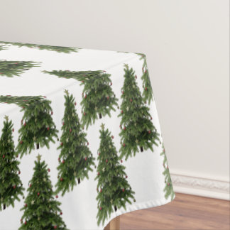 Christmas Tree Forest Pattern Cotton Tablecloth