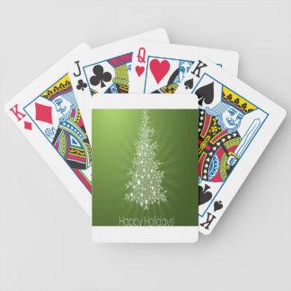 Christmas tree freebie design bicycle card decks