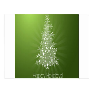 Christmas tree freebie design postcard