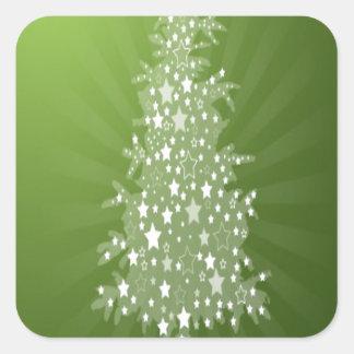Christmas tree freebie design square sticker
