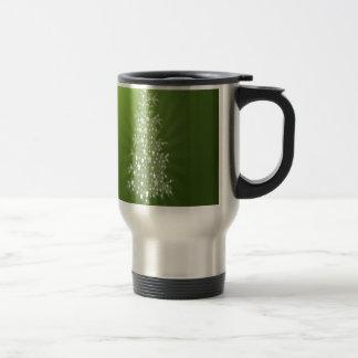 Christmas tree freebie design stainless steel travel mug