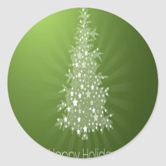 Christmas tree freebie design classic round sticker