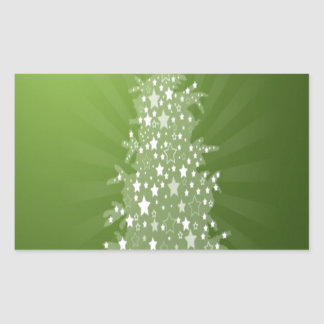 Christmas tree freebie design rectangle sticker