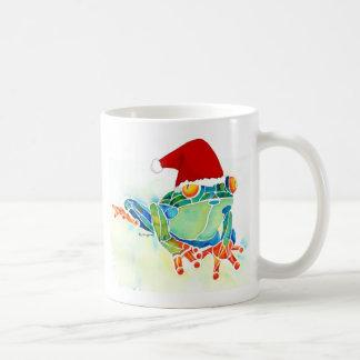 Christmas Tree Frog coffee cup Basic White Mug