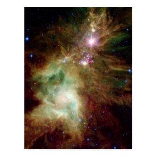 Christmas Tree Galaxy Post Card