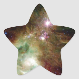 Christmas Tree Galaxy Star Sticker