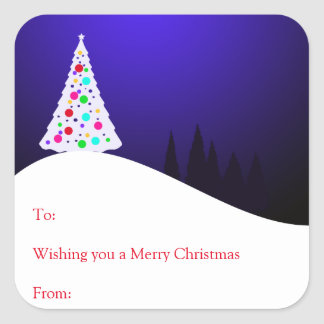 Christmas Tree Gift Stickers
