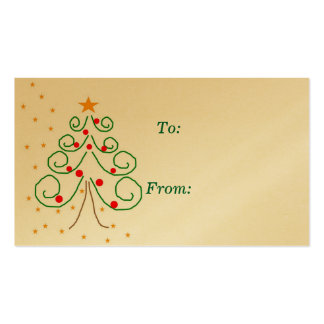 Christmas tree gift tag business cards