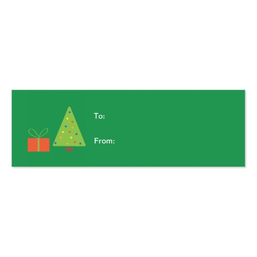 Christmas Tree Gift Tag (green) Business Card Template