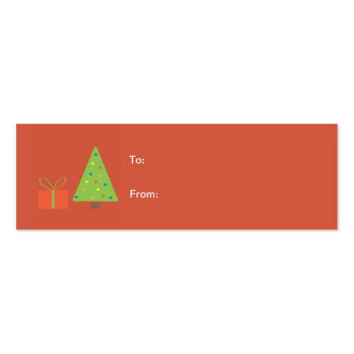 Christmas Tree Gift Tag (red) Business Card Template