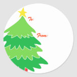Christmas Tree Gift Tags Stickers