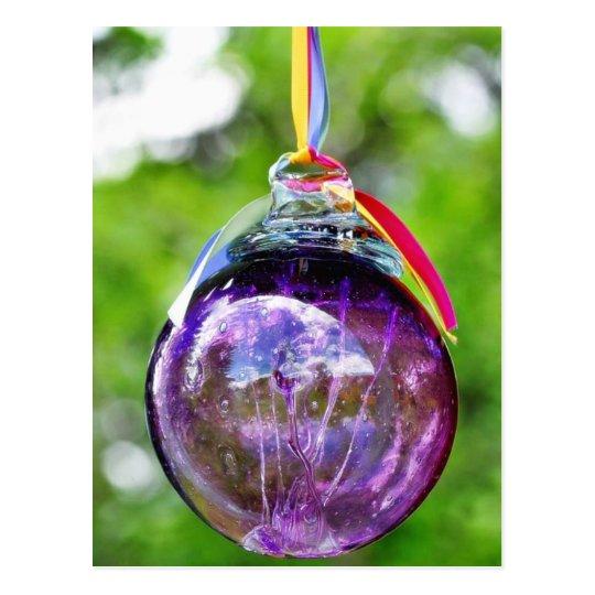 Christmas Tree Glass Balls Postcard