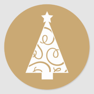 Christmas Tree (gold) | Envelope Seal Round Sticker