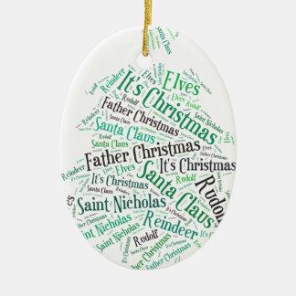 Christmas Tree Green.jpg Ceramic Oval Decoration