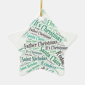Christmas Tree Green.jpg Ceramic Star Decoration