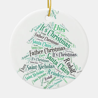 Christmas Tree Green.jpg Round Ceramic Decoration