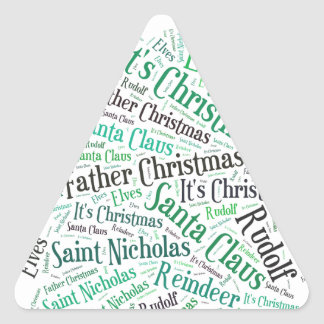 Christmas Tree Green.jpg Triangle Sticker