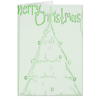 Christmas Tree - Green Note Card