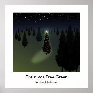 Christmas Tree Green Print