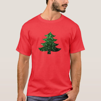 Christmas tree green sparkles T-Shirt