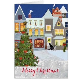 Christmas Tree Greeting inside Card, Card