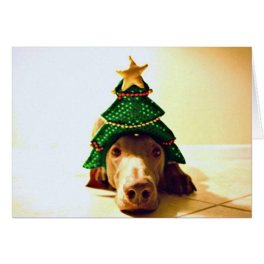 Christmas Tree Head Card