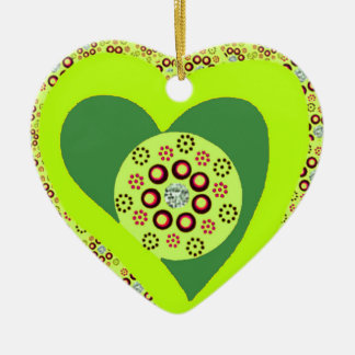 Christmas tree heart ornament custom