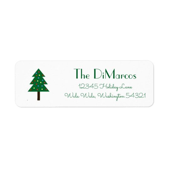 Christmas Tree | Holiday Address Labels
