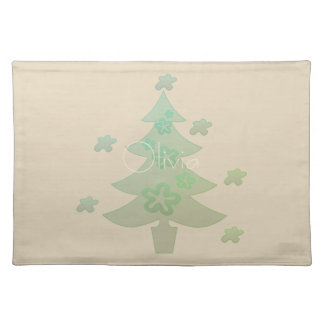 Christmas Tree  Holiday Beige Placemat