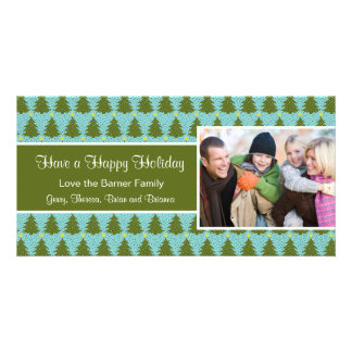 Christmas Tree Holiday Christmas Card Personalised Photo Card