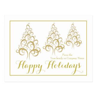 Christmas tree holiday corporate greeting postcard