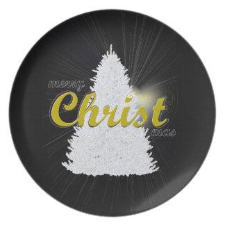 CHRISTmas tree holiday keepsake plate