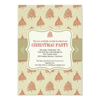 Christmas Tree Holiday Party Card