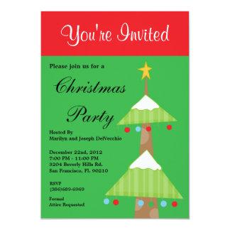"""Christmas Tree Holiday Party Invite 5"""" X 7"""" Invitation Card"""