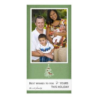 Christmas tree - holiday photocards photo card template