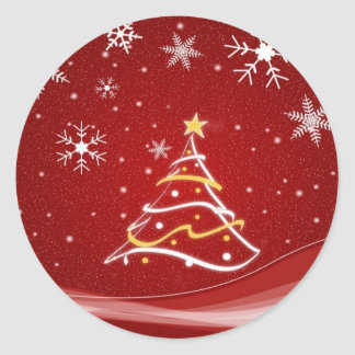 Christmas Tree Holiday Sticker