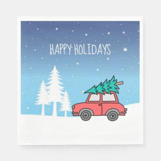 Christmas Tree Holidays Luncheon Paper Napkins